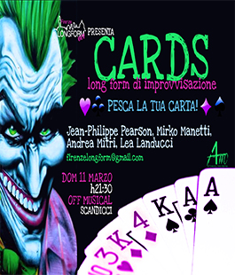''Cards'' in scena all'Off Musical di Scandicci con ospite il regista Jean Philippe Pearson