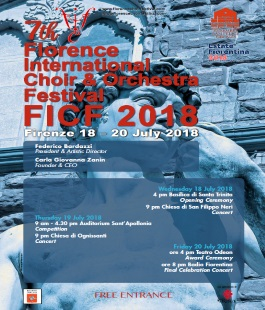 ''Florence International Choir Festival'', concerti e contest per gruppi corali dell'Ensemble San Felice