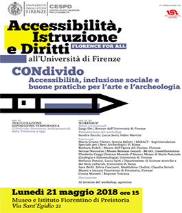 Florence for All: eventi per promuovere la cultura d'inclusione degli studenti con disabilità