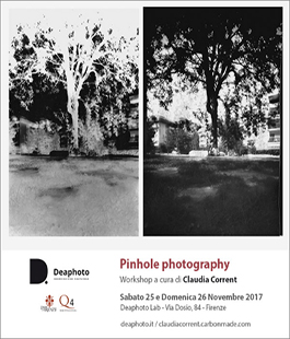 Workshop ''Pinhole Photography'' con Claudia Corrent al Deaphoto Lab